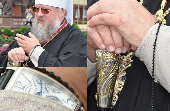 Донецкий митрополит носит часы дороже, чем у Патриарха Кирилла (ФОТО)
