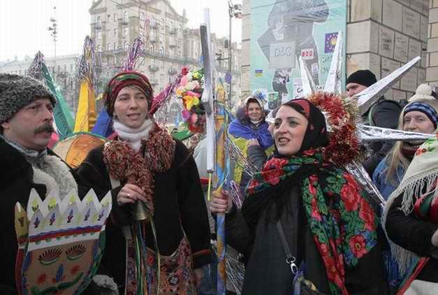 ФОТОФАКТ. На Майдане в Киеве отметили Рождество