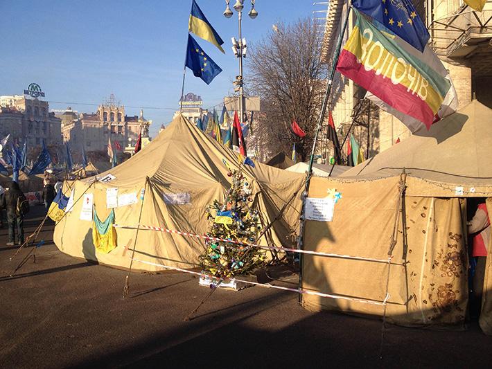 Хроники Евромайдана. Казацкий вторник (Фоторепортаж)