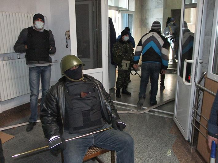 Донецк захват зданий
