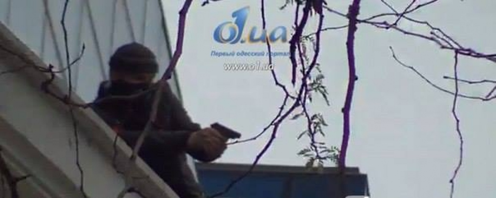 Сторонник России в Одессе стрелял по людям с крыши торгового центра (Фото)
