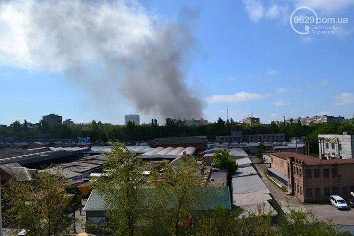 Снова горит Мариупольский горсовет (Фото)