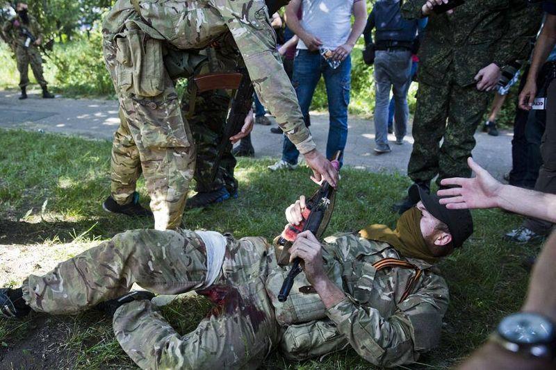 ФОТОФАКТ. Снайпер в Донецке лишил террориста возможности размножаться