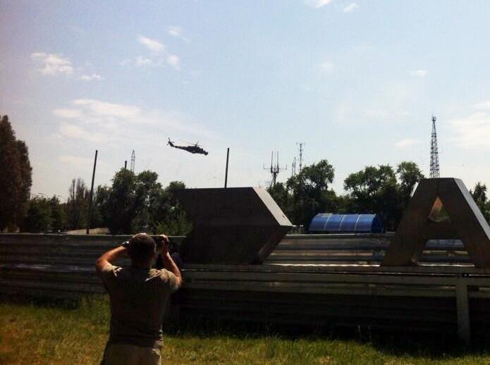 В аэропорту Донецка проходит АТО (Фото)
