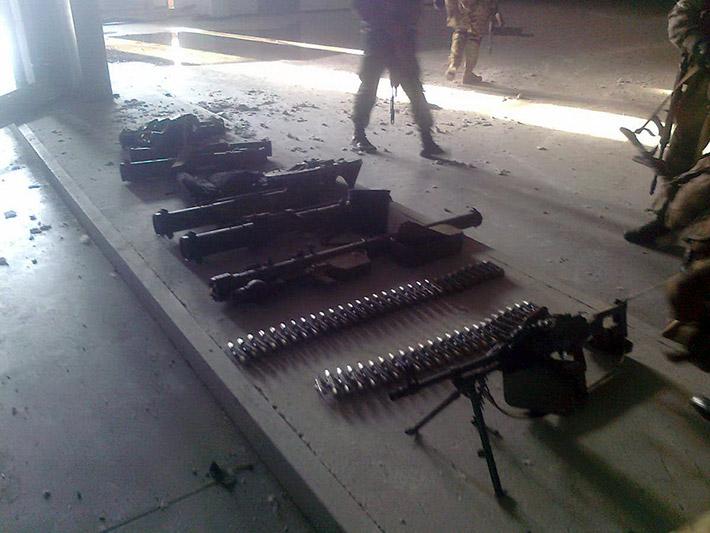 Украинские силовики обнаружили в донецком аэропорту оружие боевиков ДНР, завезенное из России – Аваков (Фото)