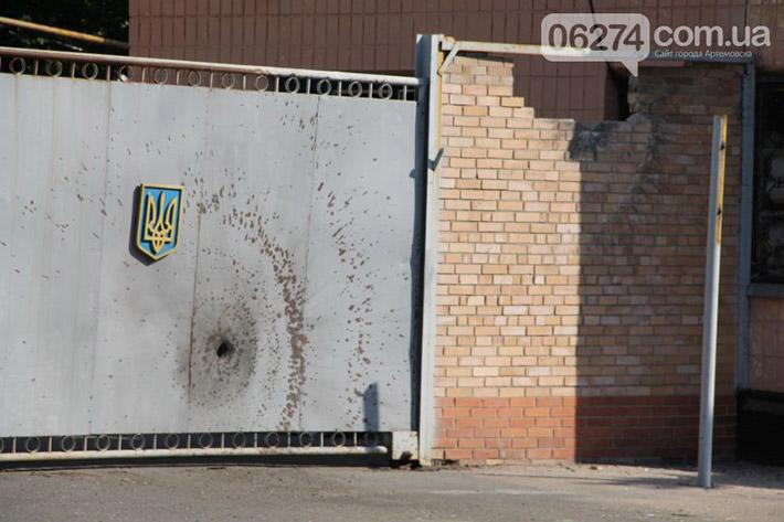 Неизвестные ночью напали на танковую базу в Артемовске. Стреляли из гранатомета (Фото)