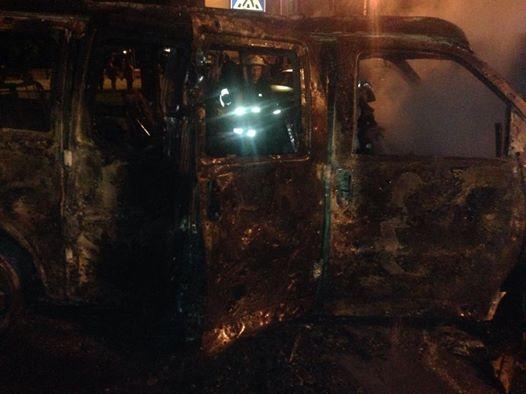 Взорванный микроавтобус имеет отношение к лидеру ДНР Пушилину