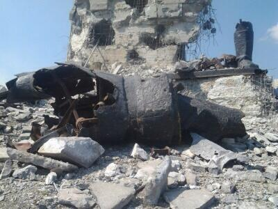 ФОТОФАКТ. Мемориальный комплекс на Саур-Могиле в Снежном Донецкой области разрушен