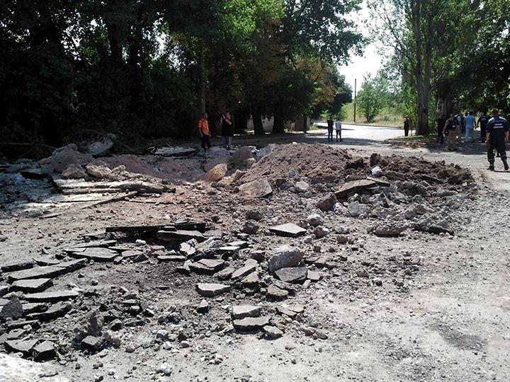ФОТОФАКТ. Последствия вчерашнего обстрела Донецка