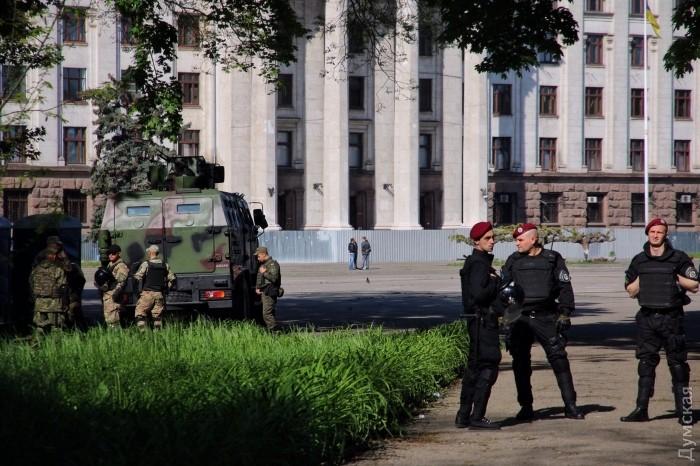Куликово поле вОдессе оцеплено полицией иНацгвардией