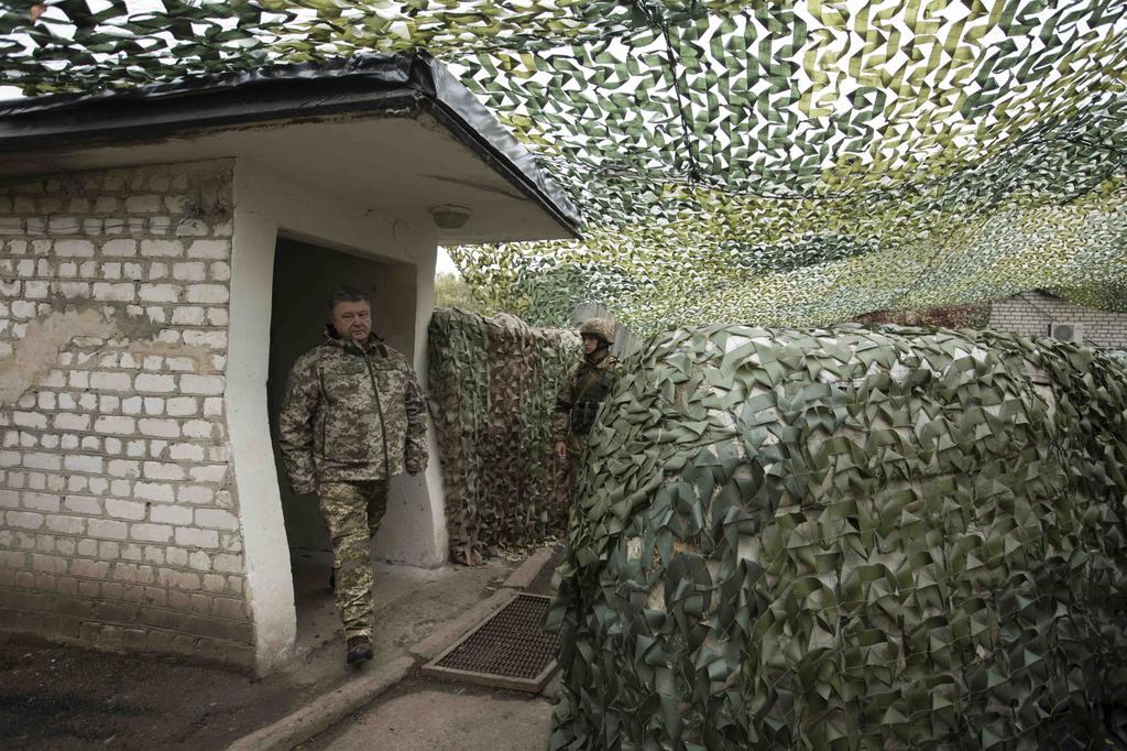 Президент Украины находится взоне АТО