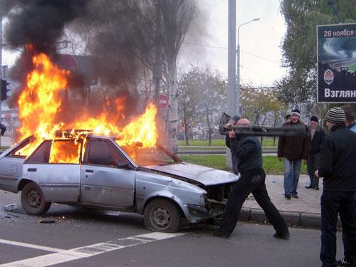 Фанаты устроили разборки на Донбасс Арене